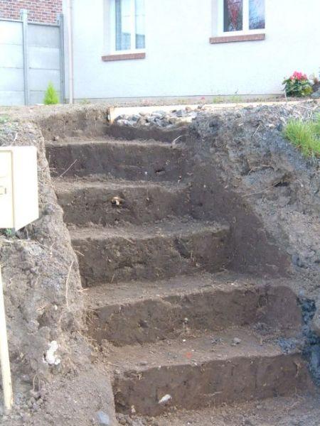 2009 mars la construction de notre maison - Faire une marche en beton ...